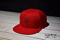 Яркая рэперская кепка красная Fjallraven Snapback Cap