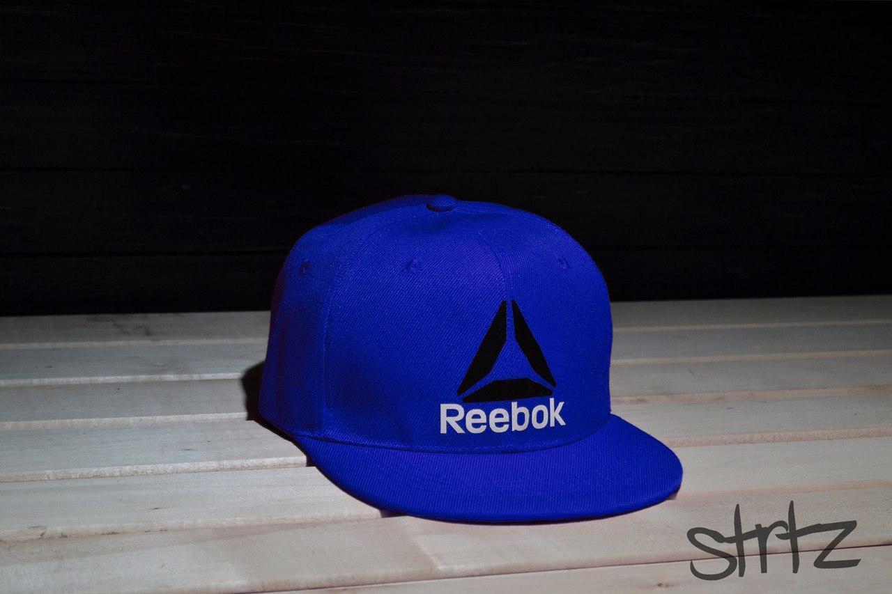 Рэперская кепка синяя снепбек рибок,Reebok Crossfit Snapback Cap
