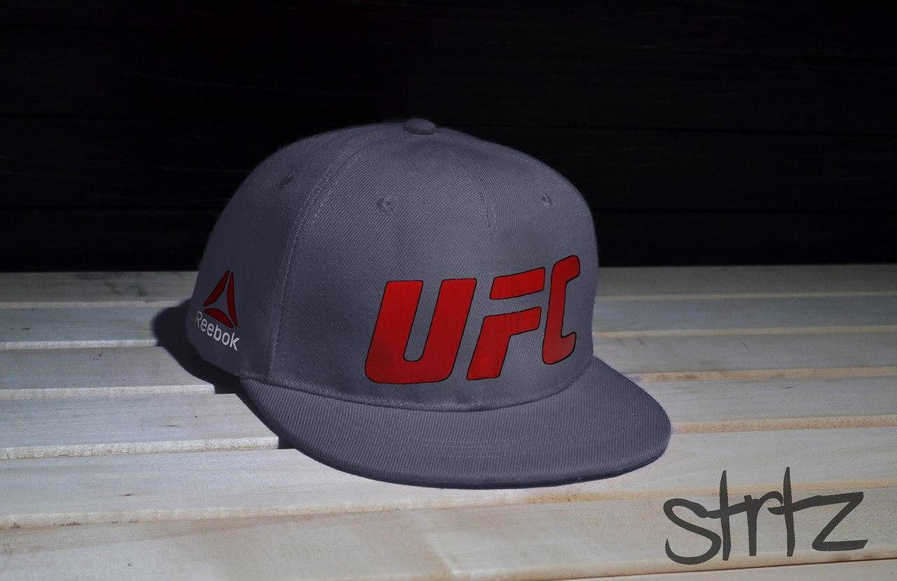 Серая рэперка,снепбек Reebok UFC Snapback Cap