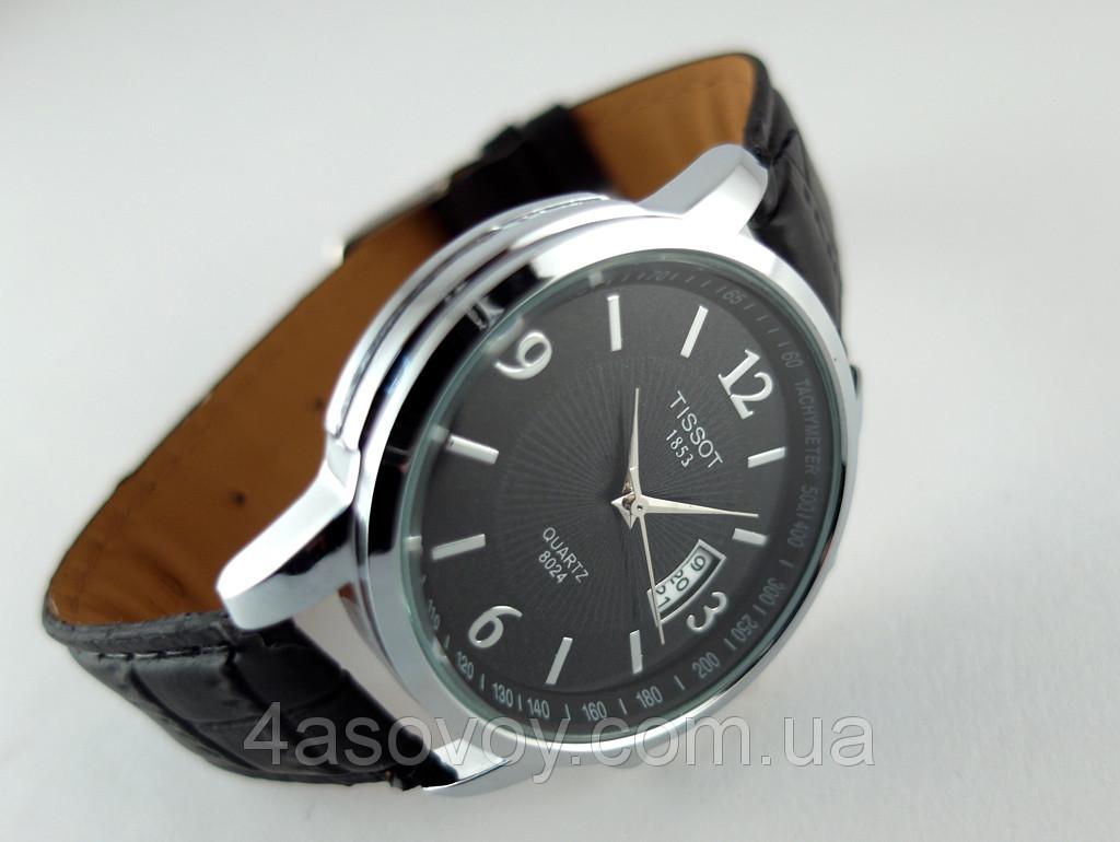 08a4557c Мужские часы TISSOT 1853 quartz кварцевые, корпус серебристый, циферблат  черный
