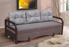 """Прямой диван «Еврокнижка» с механизмом трансформации """"еврокнижка"""""""