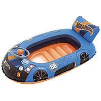 Детская надувная лодка Hot Wheels