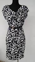 Платье прямого силуэта с коротким рукавом