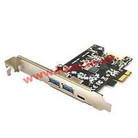 Контроллер STLab USB 3.1 Gen1 1xTypeC+2xTypeA PCI-E (U-1340)