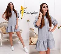 Платье Ткань турецкая двухнитка Размер единый С-М Большой размер под заказ (21078)