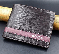Кожаный мужской кошелек Bovis коричневый