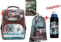 """Комплект. Рюкзак школьный каркасный Rock crawler K17-501S-4 + пенал + сумка, ТМ """"Kite"""""""