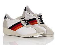 Кроссовки - сникерсы белые 39,40 рзм.