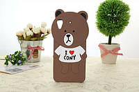 """HTC 626 DESIRE оригинальный противоударный чехол бампер 3D детский SOFT TPU на телефон """"TEDDY BEAR"""