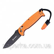 Нож для туризма Ganzo (оранжевый, черный) G7413P-BK-WS, фото 2