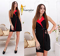 Платье -пиджак Ткань барби костюмка класса люкс  Размер единый С-М