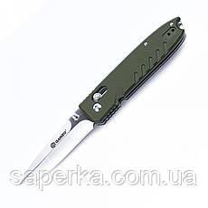 Нож с фальшлезвием Ganzo (черный, зеленый, оранжевый) G746-1-BK, фото 2