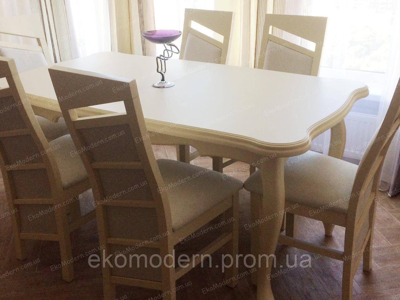 Стол обеденный Ричмонд + в цвете слоновая кость в стиле прованс