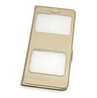 Чехол-книжка Momax для HTC D600 Gold