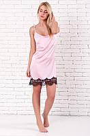 Короткая ночная рубашка Венера розовая