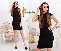Платье Ткань джерси высокого качества Сзади на потайной молнии Размер единый С-М (21091) 42, черный