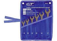 Набор ключей комбинированных, 8 - 17 мм, 6 шт., CrV, фосфатированные, ГОСТ 16983// СИБРТЕХ