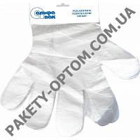 Перчатки одноразовые полиэтиленовые размер L