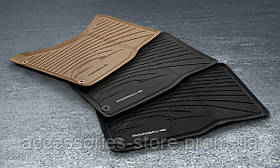 Комплект резиновых ковров салона Porsche Macan,Black