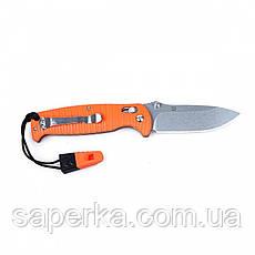 Нож для туризма Ganzo (черный, оранжевый) G7412P-BK-WS, фото 3