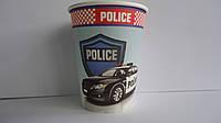 """Стаканчик для праздника """"Полиция Police"""" 220мл 9см,ламин картон.Стаканчик на День рождения """"Полиция Police"""".Пр"""