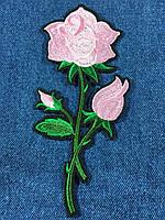 Нашивка Роза  big цвет нежно розовый
