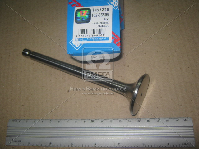 Клапан выпускной SCANIA DS11 TURBO 11x44.6x162.5 (=50 004 123) (пр-во kolbenschmidt)