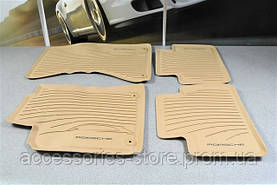 Комплект резиновых ковров салона Porsche Macan, Luxor Beige