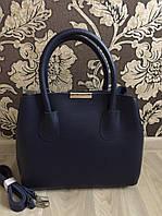 Модная женская черная обьемная сумка