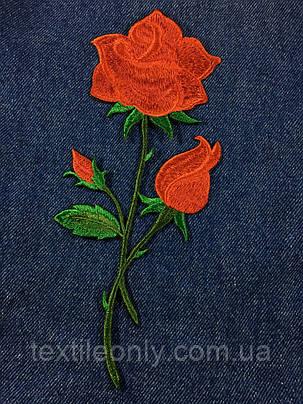 Нашивка Роза  big цвет красный, фото 2