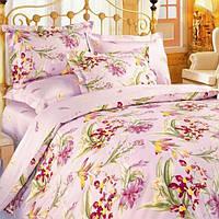 Евро постельное бельё Теп Колорит - ирисы розовые
