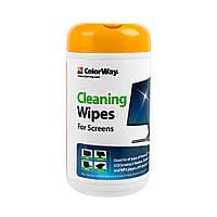 Салфетки ColorWay (CW-1071) для очистки ноутбуков, мониторов 100шт., фото 1