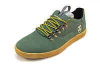 Кроссовки мужские TOMMY HILFIGER кожаные зеленые (р.41)