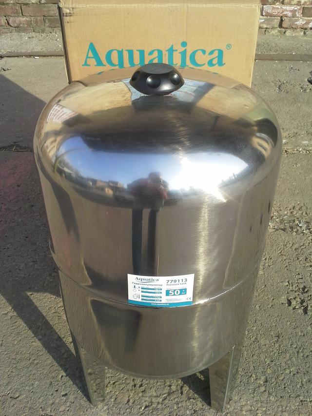 Бытовой гидроаккумулятор Aquatica 779113 (50 л), нержевающий бак