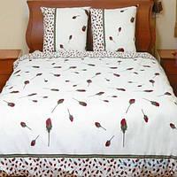 Полуторное постельное бельё Теп Колорит - бутон розы красный