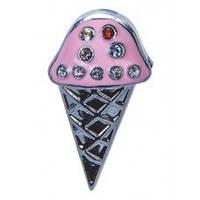 Аксессуар для силиконового браслета Мороженое розовое (Pink silver ice cream) Tinto AC2220