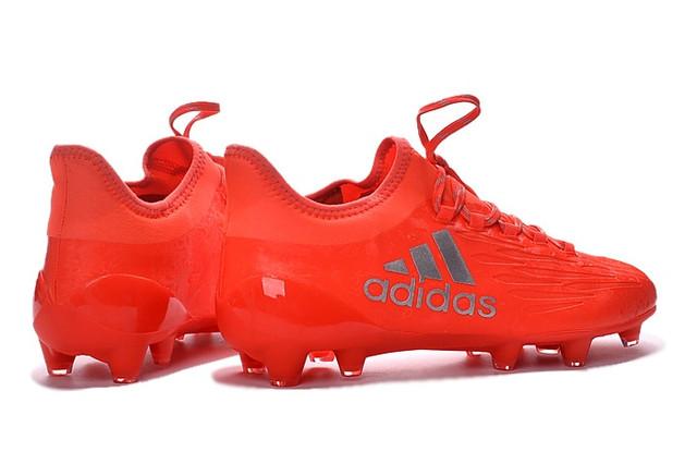 Футбольные бутсы adidas X 16.1 FG Solar Red/Silver Metallic/Hi-Res Red