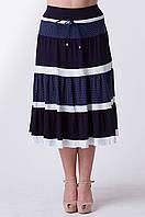 Женская летняя  юбка Горох (размер 50-58), фото 1