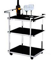 Сервировочный столик  D6009, стеклянная сервировочная тележка для ресторана и дома