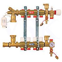 Колектор для теплої підлоги в зборі на 5 виходів R557 Giacomini