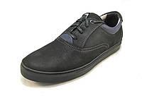 Кроссовки мужские  STEP WEY кожаные, черные (р.40,41,42,44)