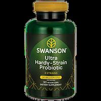 Swanson Probiotics Ultra Hardy-Strain Probiotic устойчивый пробиотик  30 млрд CFU 90 капс