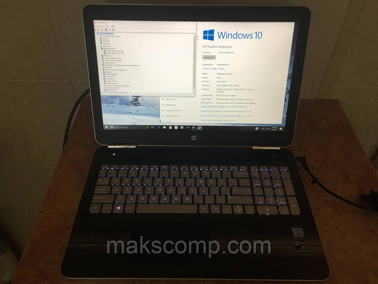 HP 15T bc200 15'6 FHD i5-7300HQ Nvidia GTX 1050 8Gb DDR4 256Gb SSD m2:  продажа, цена в Одессе  ноутбуки и нетбуки