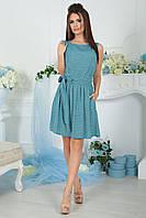 Платье Жулита голубой орнамент