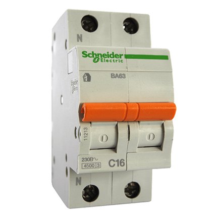 Выключатель автоматический Schneider Electric 32A BA63 2P, фото 2