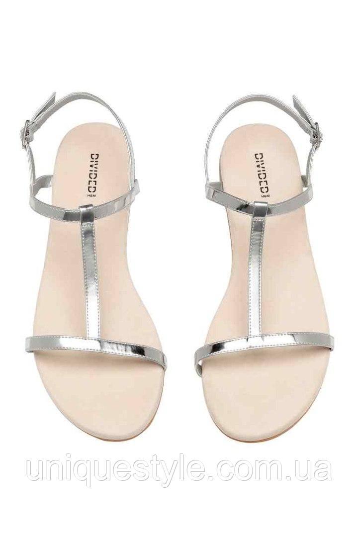 2931cd9db15a Женские сандалии серебро H&M в наличии 37 38 39 40