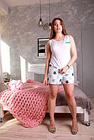 Женский комплект для сна с шортами Жанель