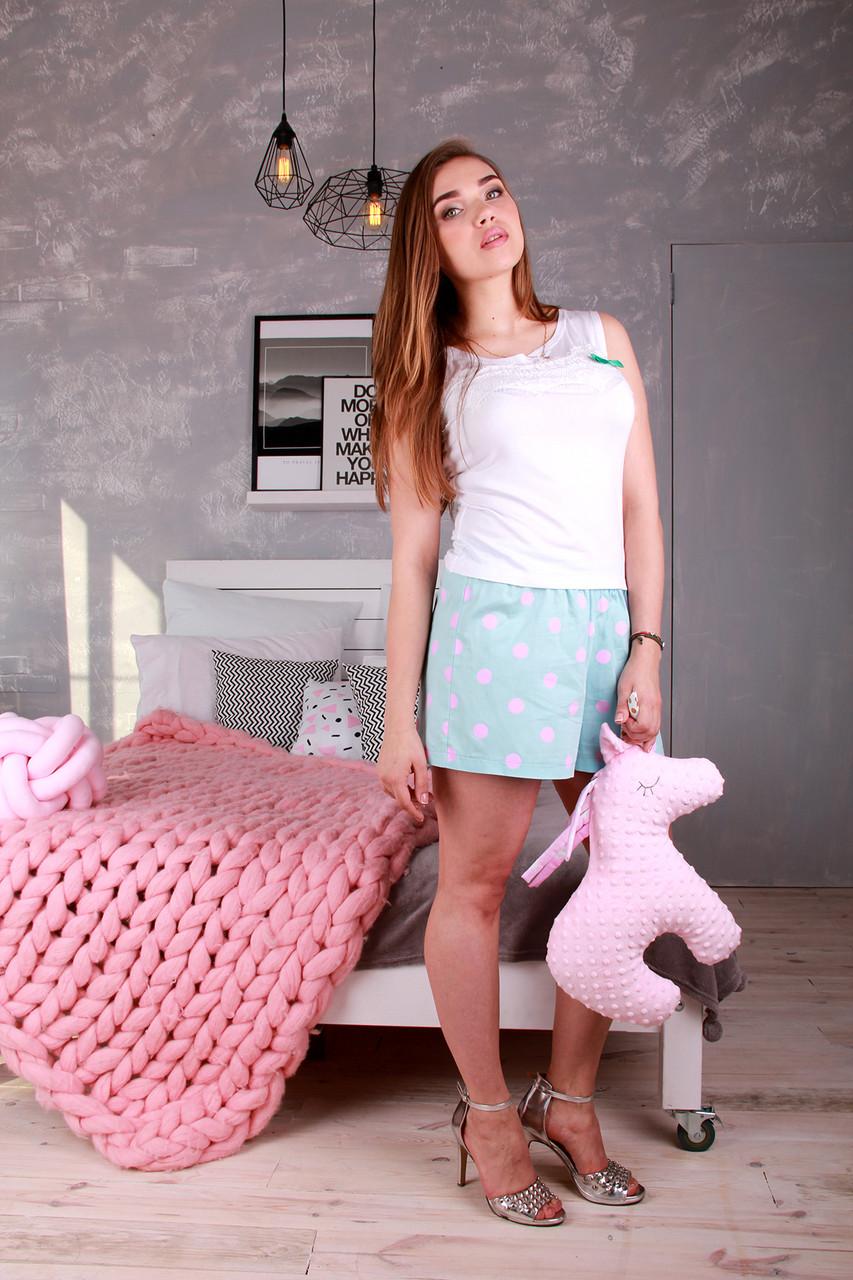 Женский комплект для сна с шортами Мальвина - DS Moda - женская одежда от производителя в Харькове