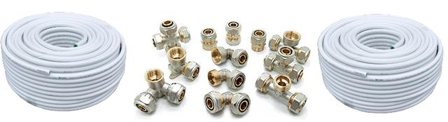 Фото металлопластиковые трубы и фитинги