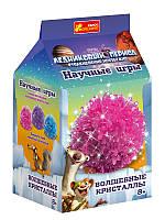 """Детский набор для опытов """"Волшебные кристаллы. Ледниковый период. Розовый"""""""